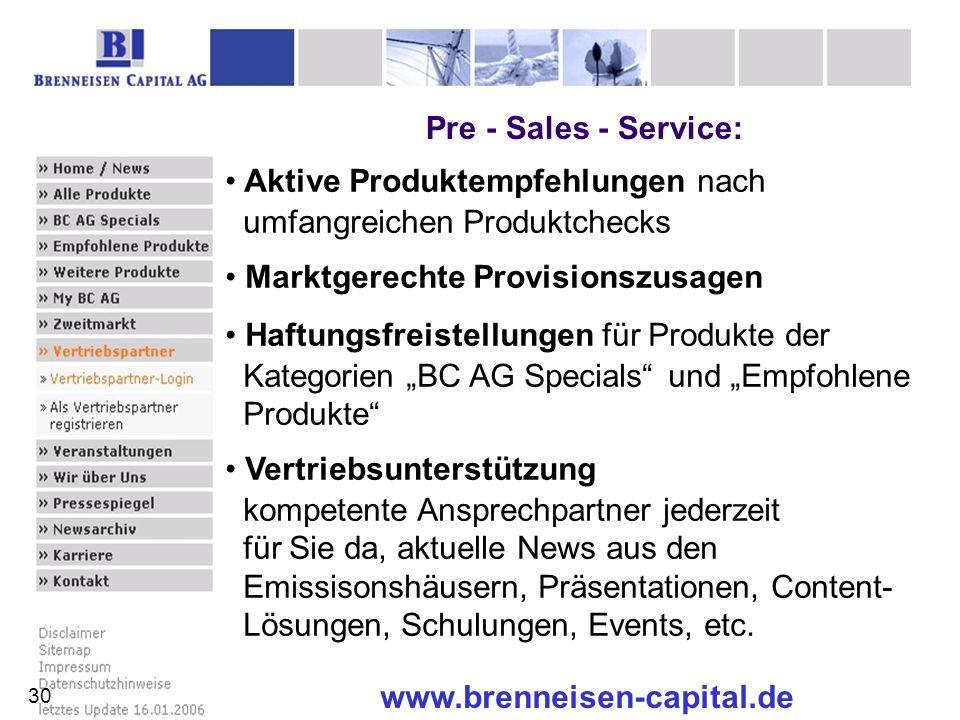 Pre - Sales - Service: www.brenneisen-capital.de