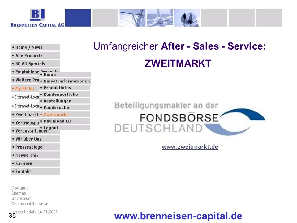 Umfangreicher After - Sales - Service: