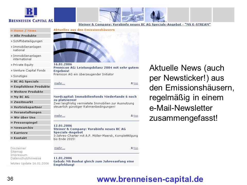 Aktuelle News (auch per Newsticker