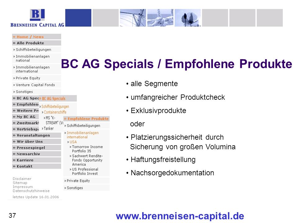 BC AG Specials / Empfohlene Produkte