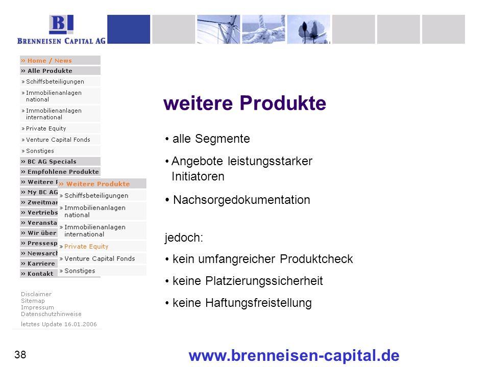 weitere Produkte www.brenneisen-capital.de Nachsorgedokumentation