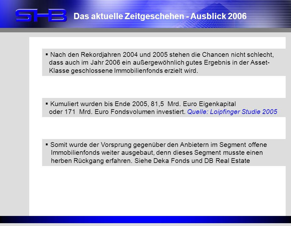 Das aktuelle Zeitgeschehen - Ausblick 2006