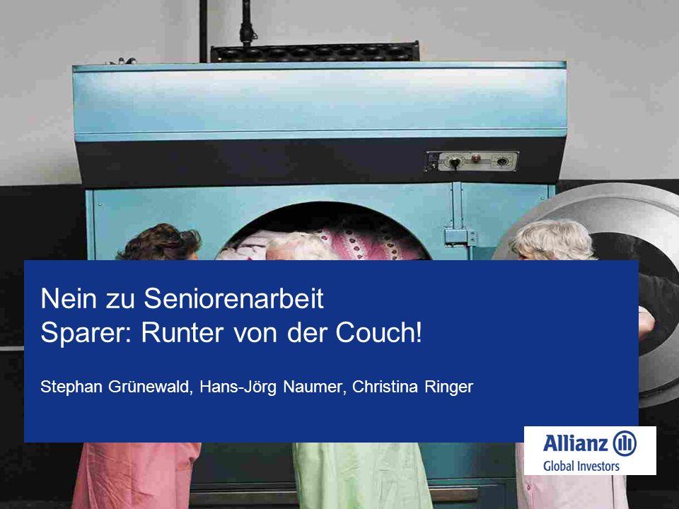Nein zu Seniorenarbeit Sparer: Runter von der Couch!