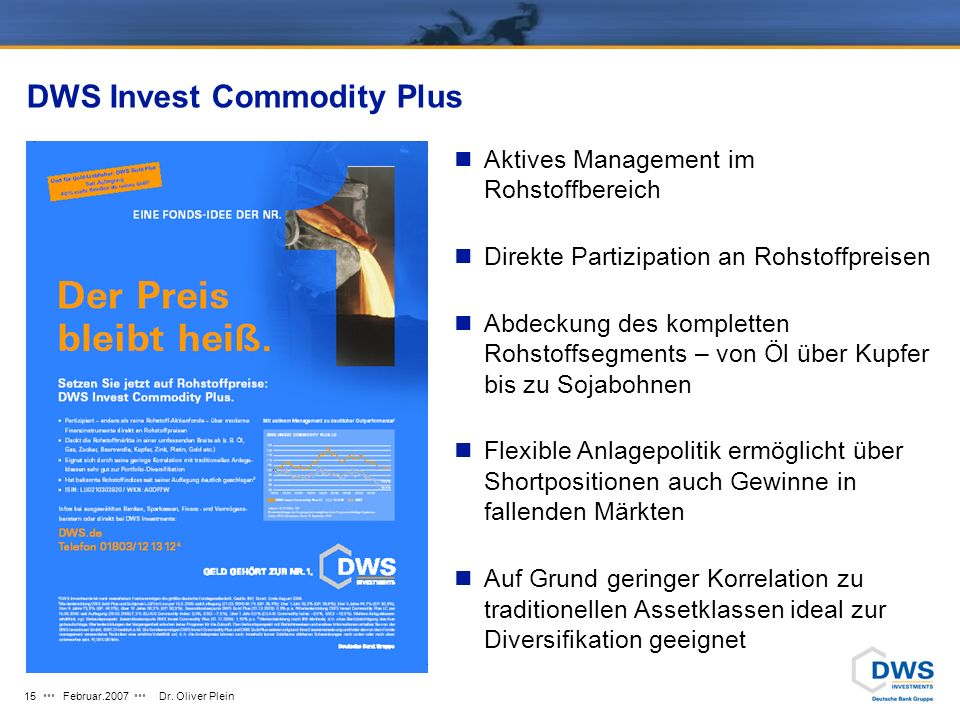 DWS Invest Commodity Plus