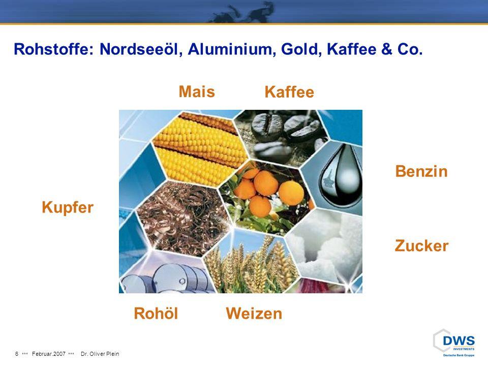 Rohstoffe: Nordseeöl, Aluminium, Gold, Kaffee & Co.