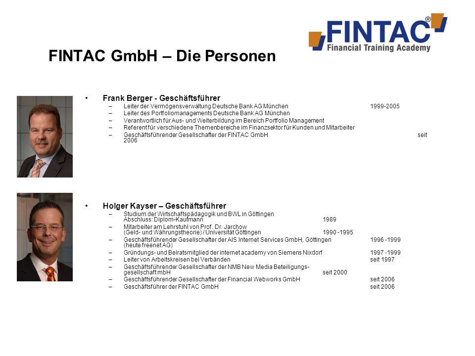 FINTAC GmbH – Die Personen