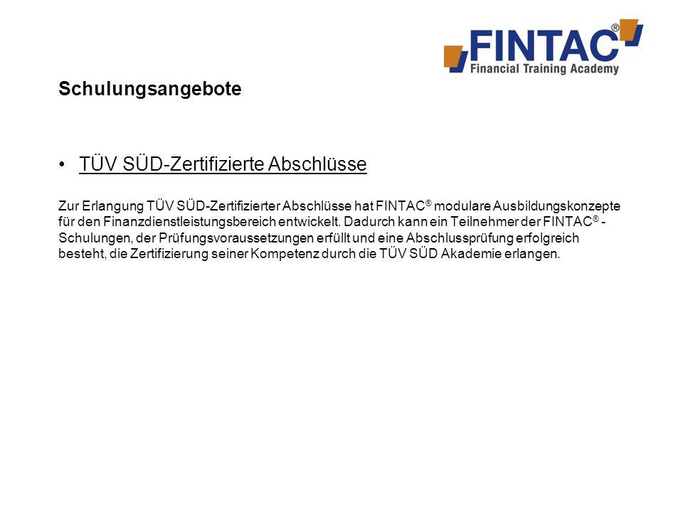 TÜV SÜD-Zertifizierte Abschlüsse