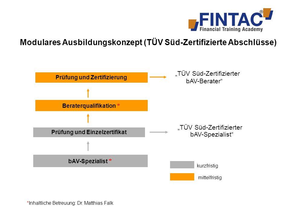 Modulares Ausbildungskonzept (TÜV Süd-Zertifizierte Abschlüsse)