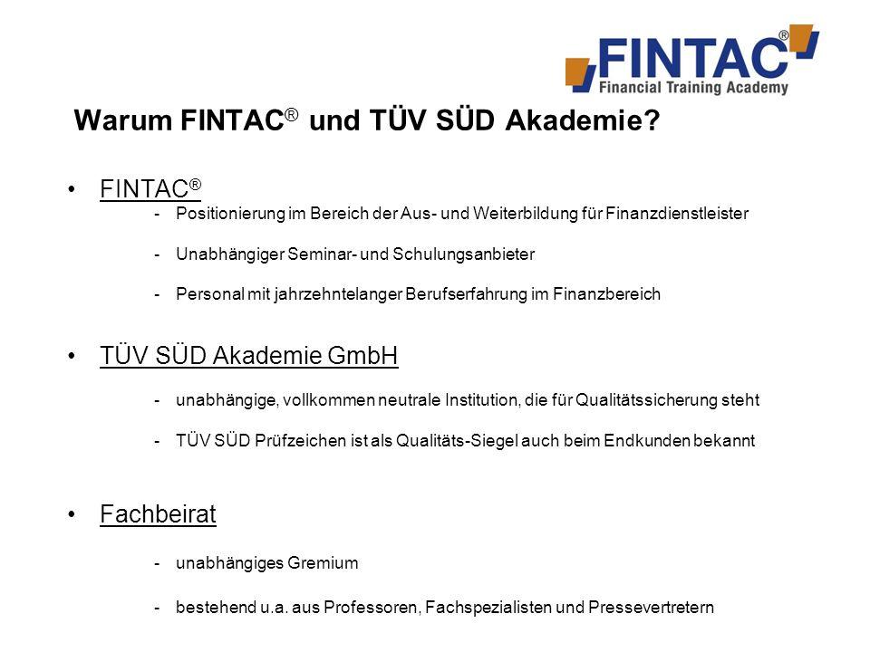 Warum FINTAC® und TÜV SÜD Akademie