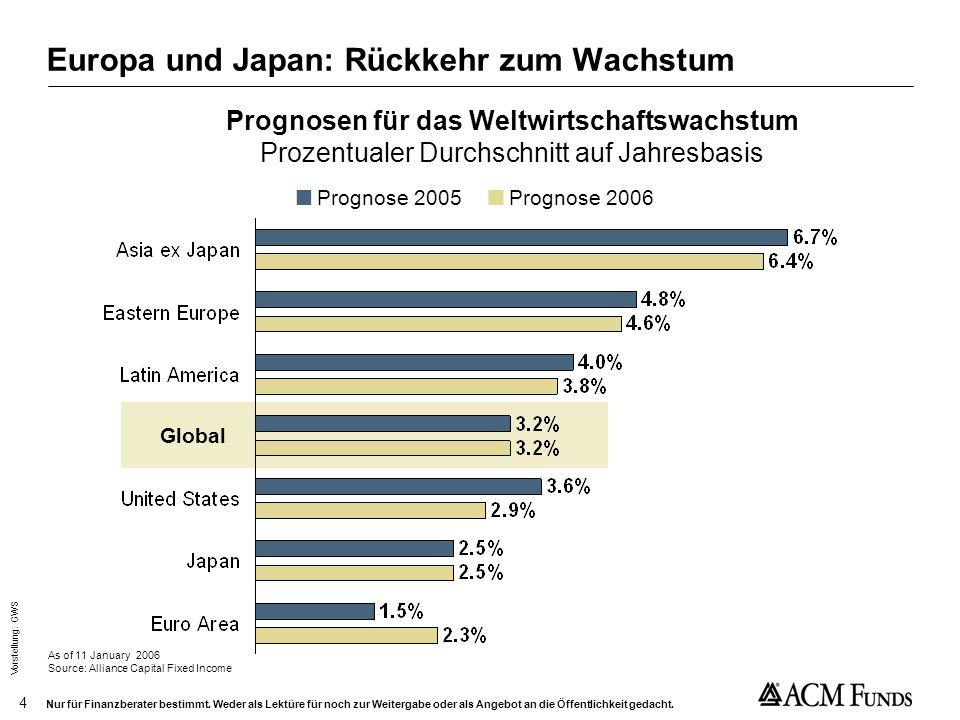 Europa und Japan: Rückkehr zum Wachstum