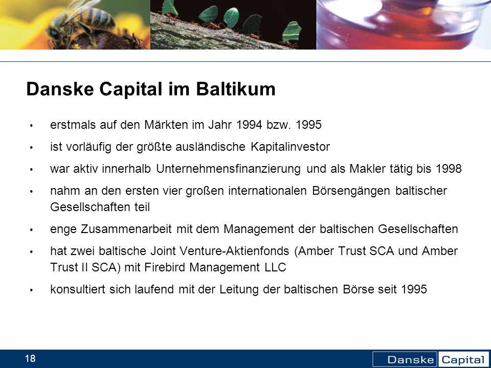 Danske Capital im Baltikum