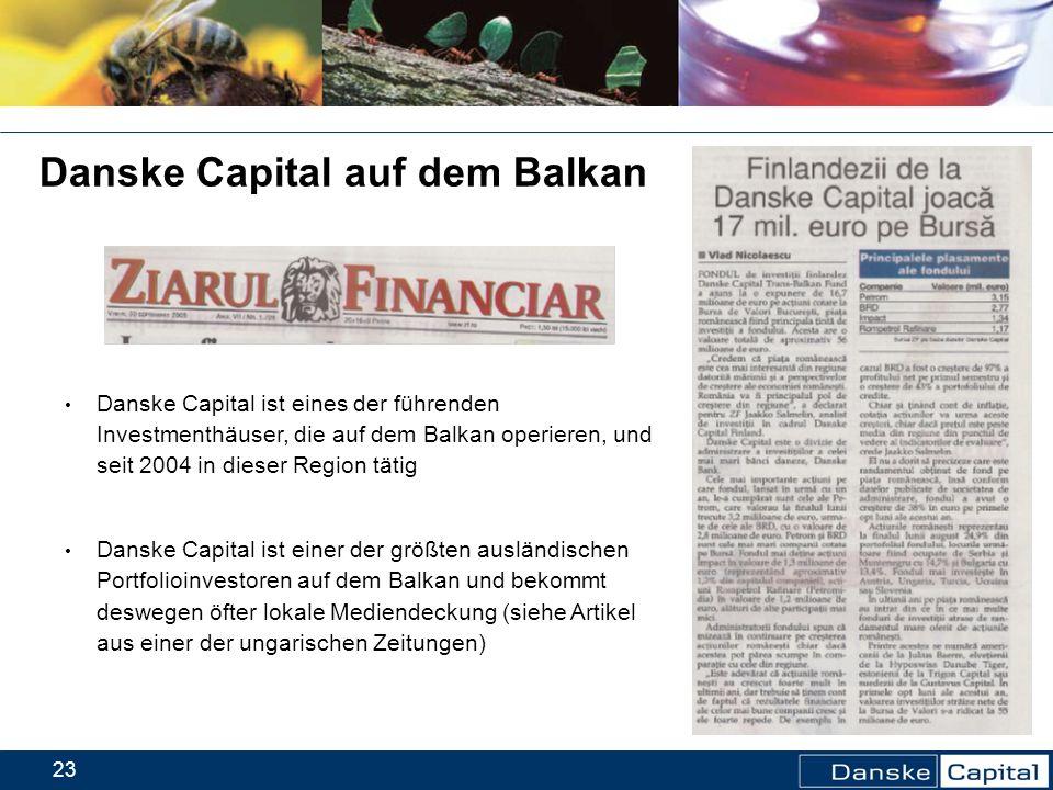 Danske Capital auf dem Balkan