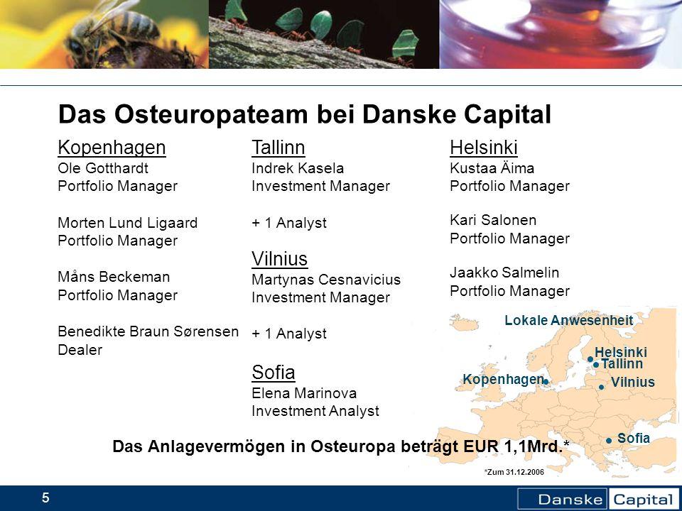 Das Anlagevermögen in Osteuropa beträgt EUR 1,1Mrd.*