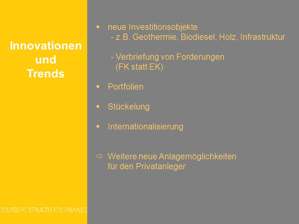 Innovationen und Trends