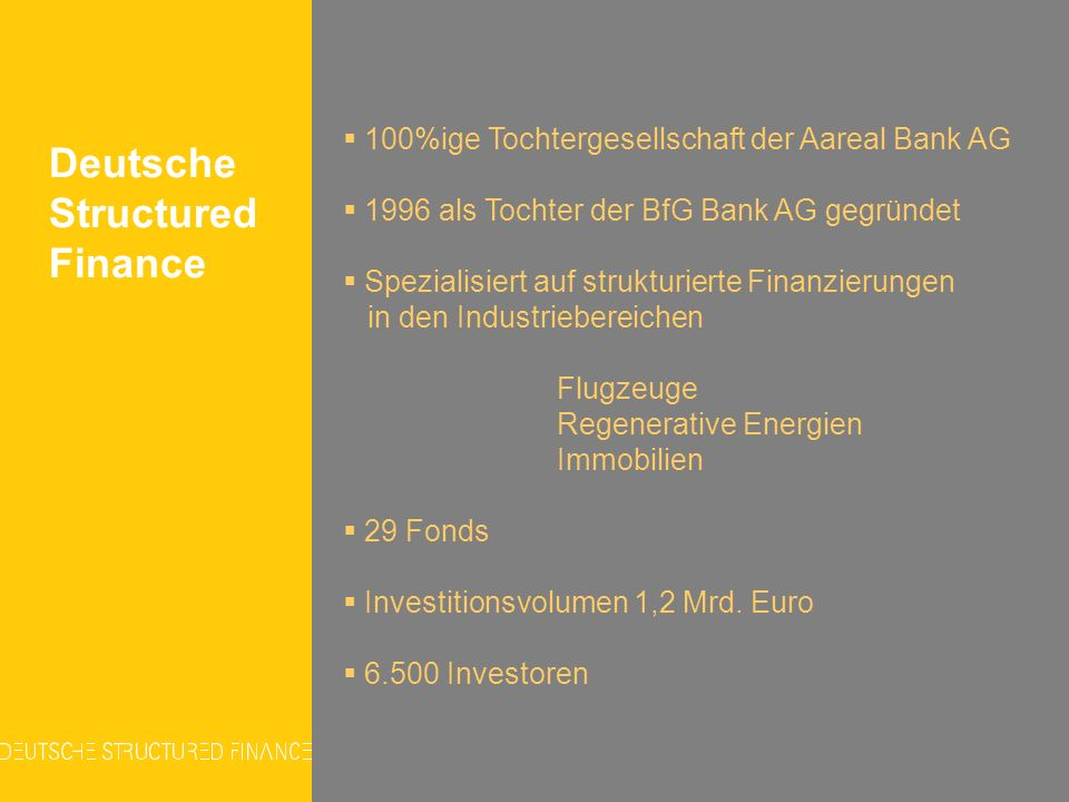 Deutsche Structured Finance