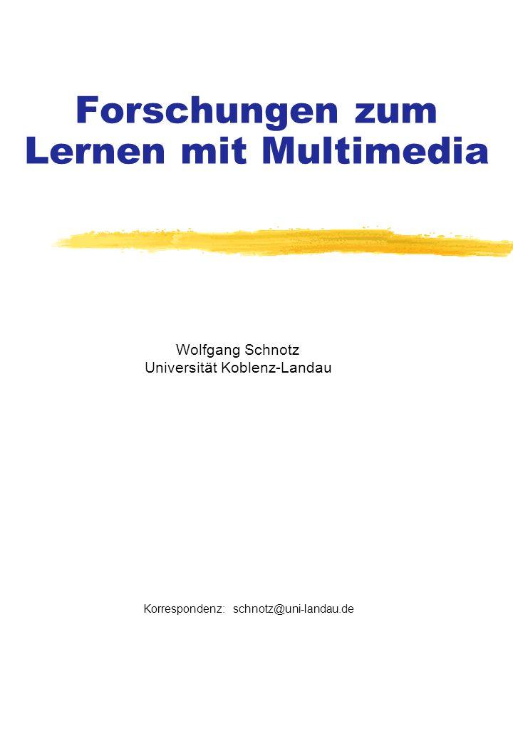 Forschungen zum Lernen mit Multimedia