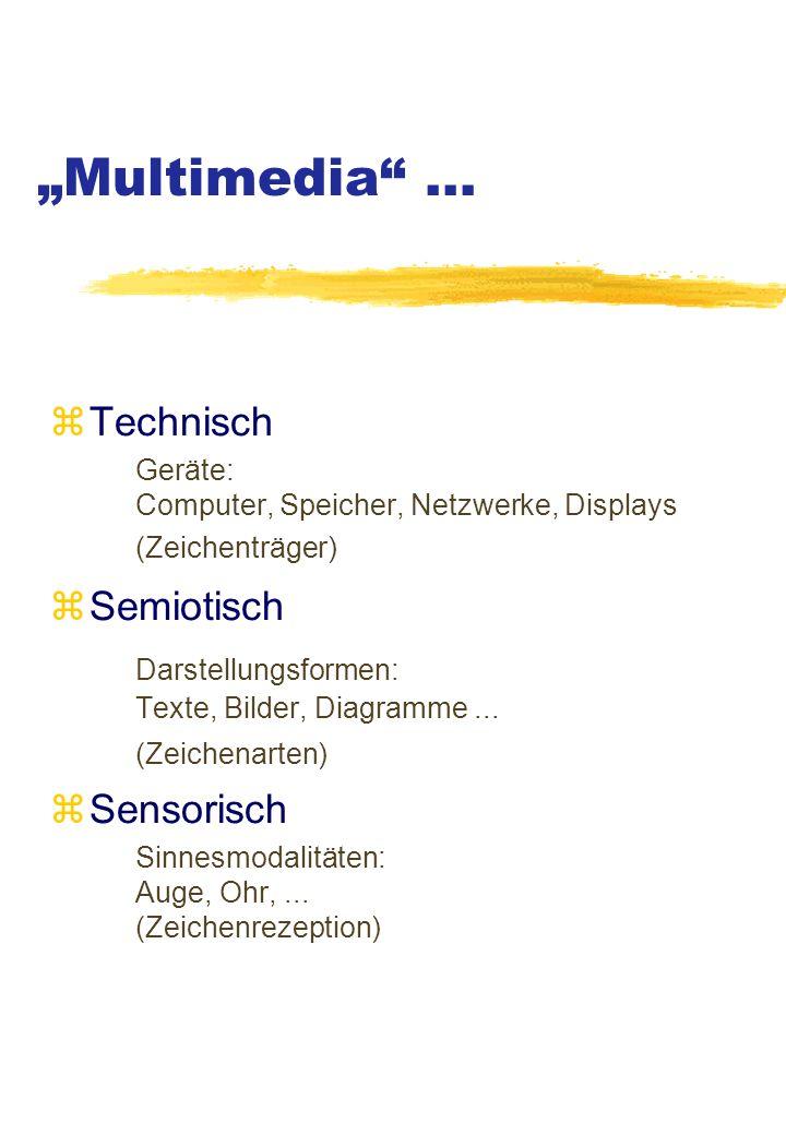 """Multimedia ... Technisch Semiotisch"