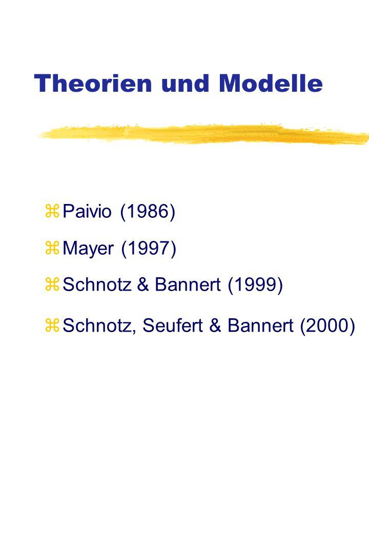 Theorien und Modelle Paivio (1986) Mayer (1997)