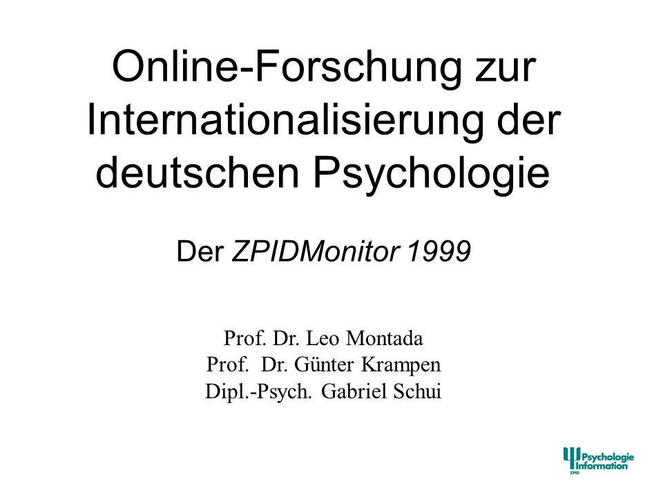 Online-Forschung zur Internationalisierung der deutschen Psychologie