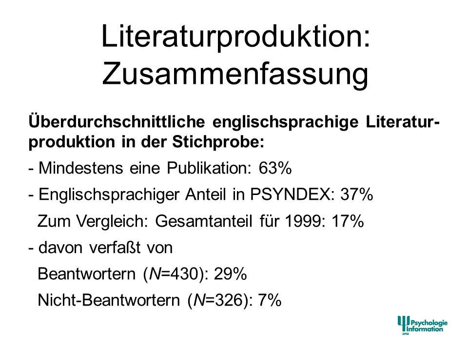Literaturproduktion: Zusammenfassung