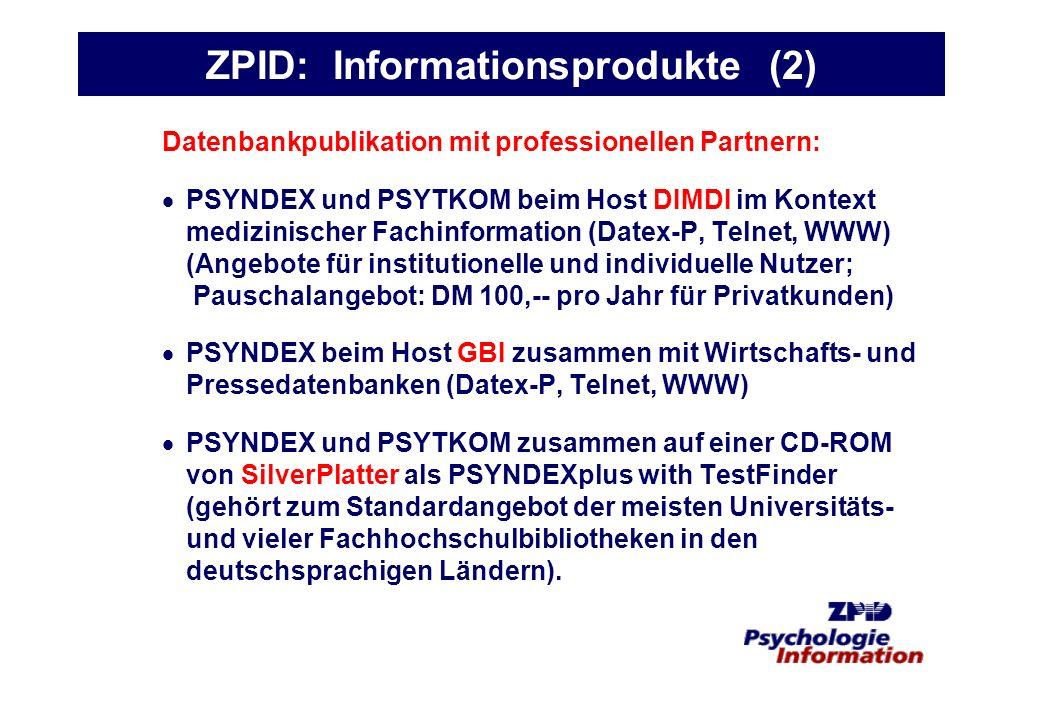 ZPID: Informationsprodukte (2)