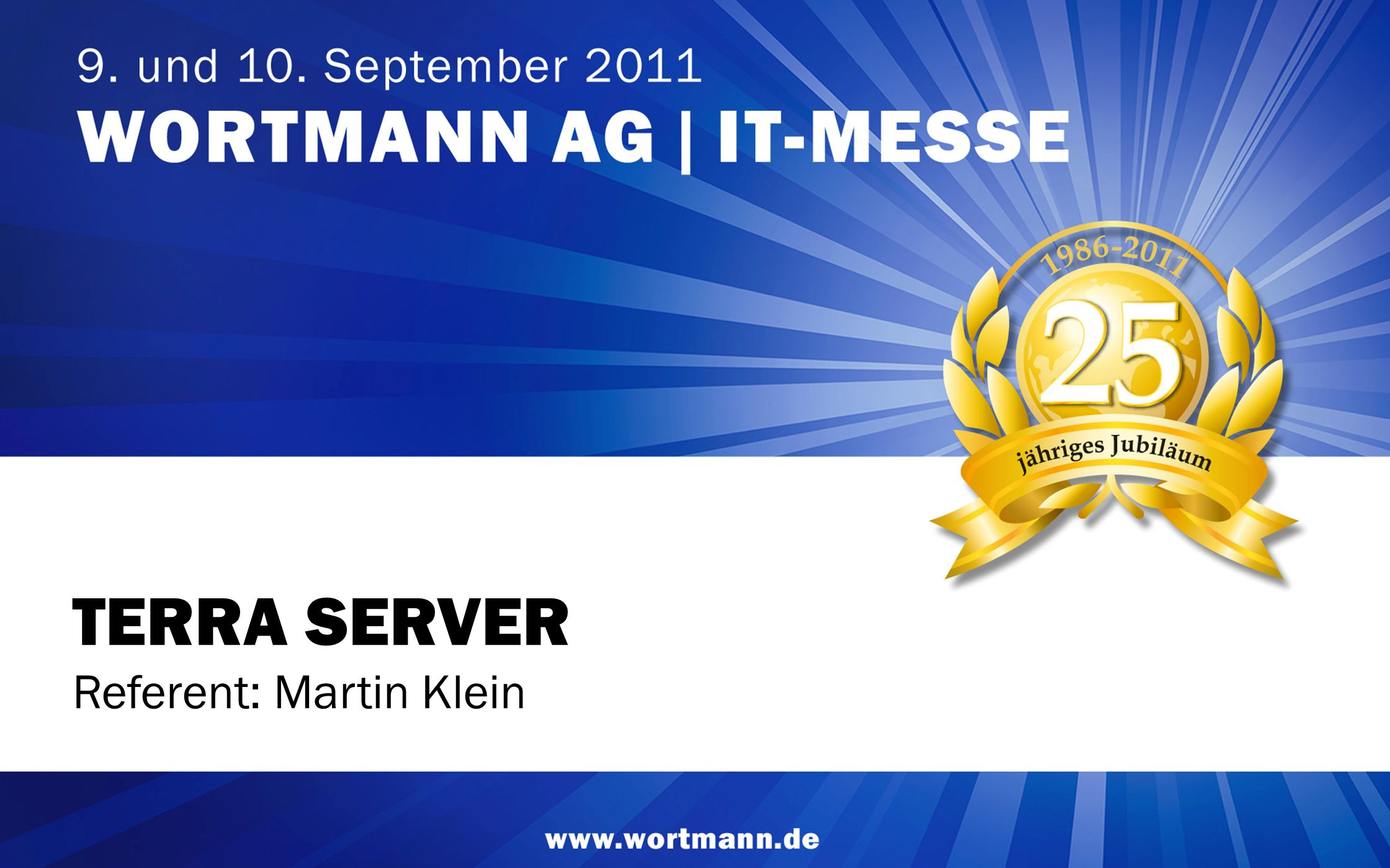 TERRA SERVER Referent: Martin Klein 1 1