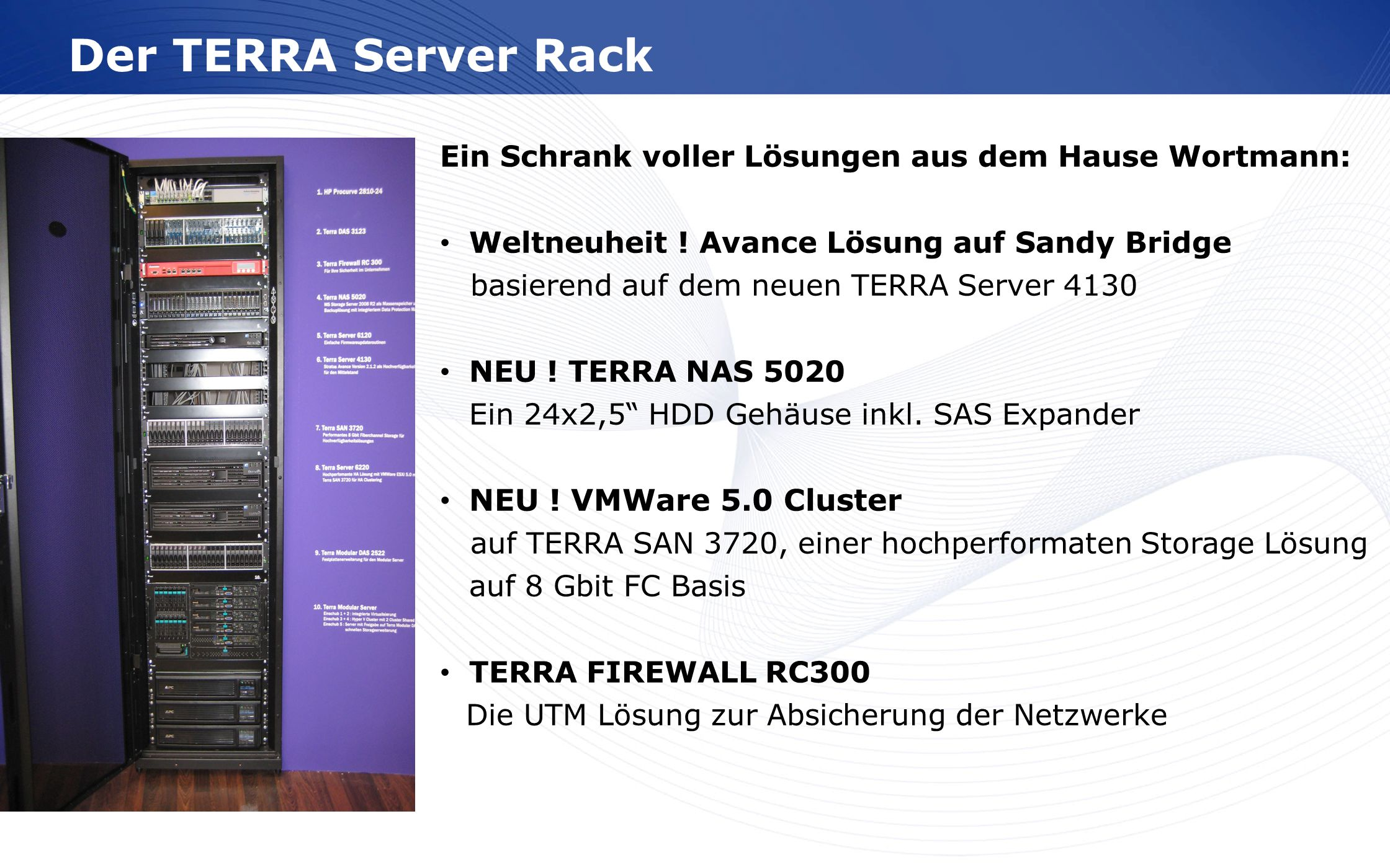 Der TERRA Server Rack NEU ! VMWare 5.0 Cluster