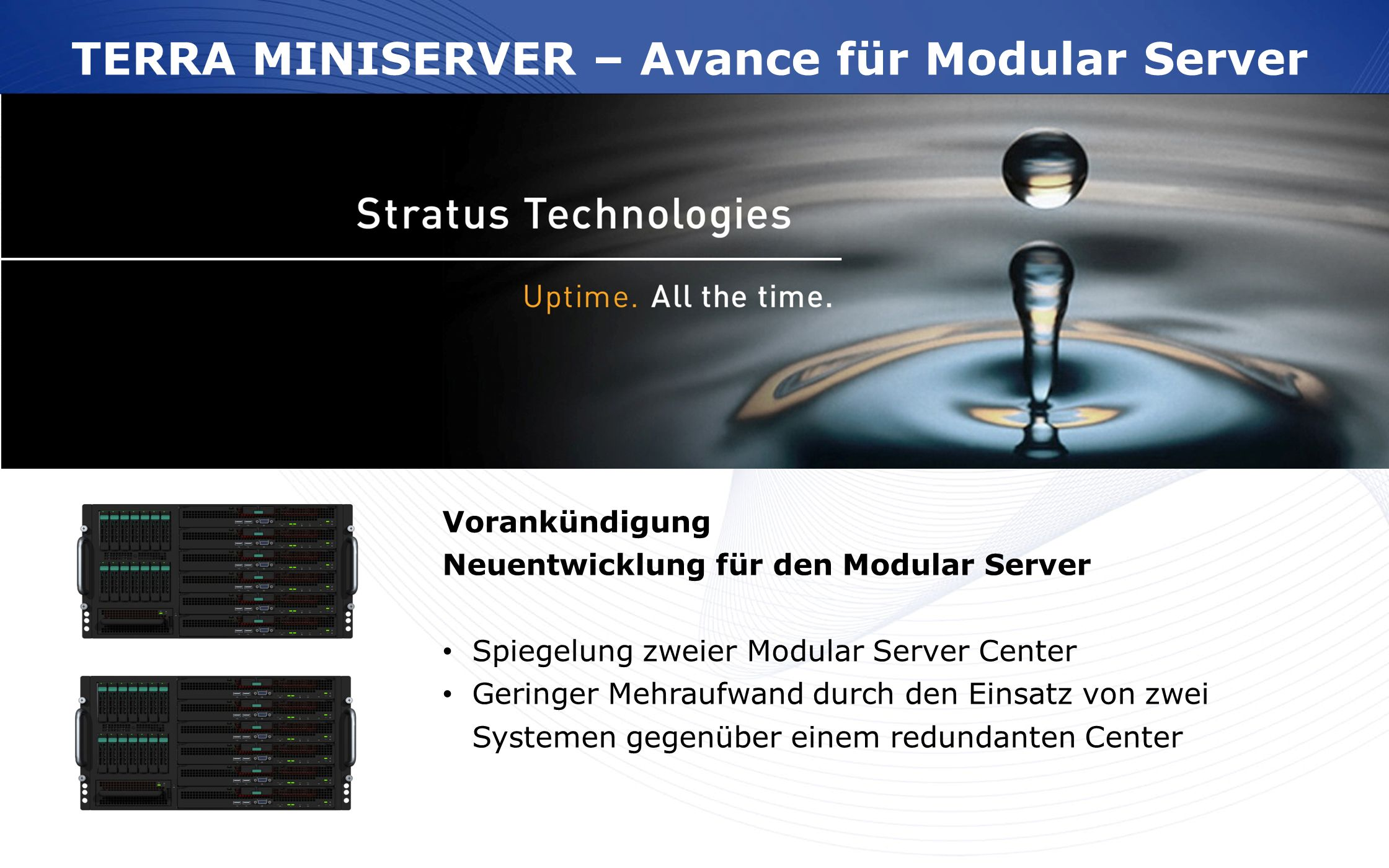 TERRA MINISERVER – Avance für Modular Server