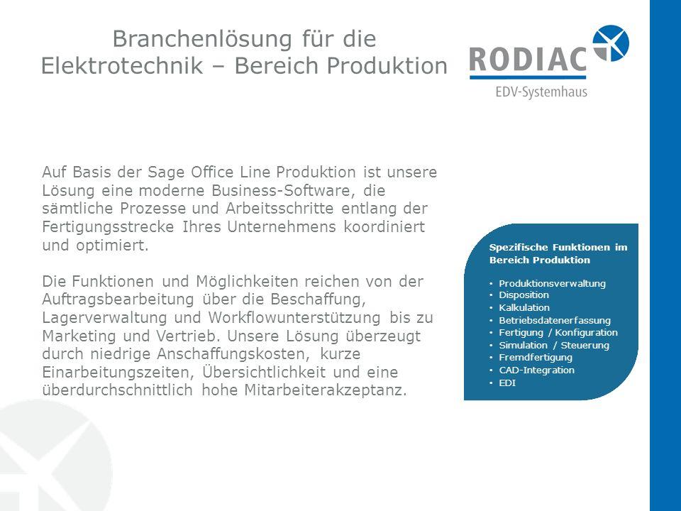 Branchenlösung für die Elektrotechnik – Bereich Produktion