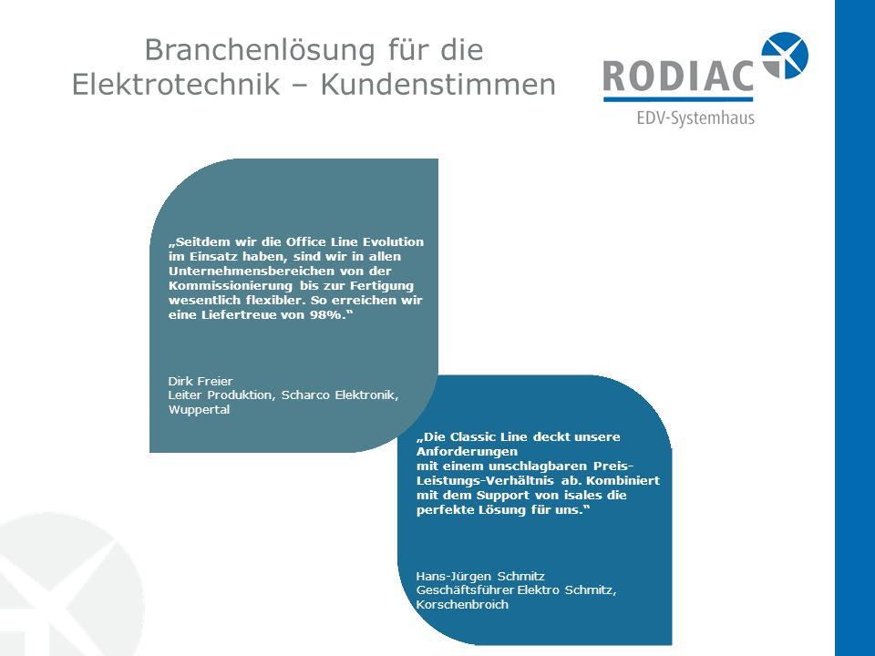 Branchenlösung für die Elektrotechnik – Kundenstimmen
