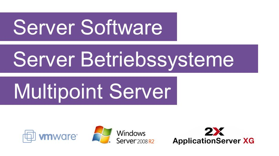 Server Software Server Betriebssysteme Multipoint Server