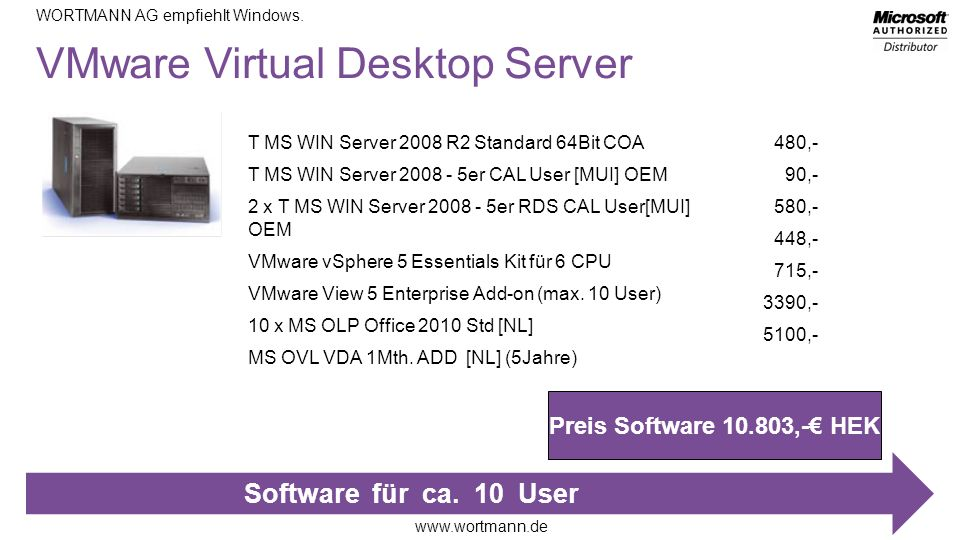 VMware Virtual Desktop Server