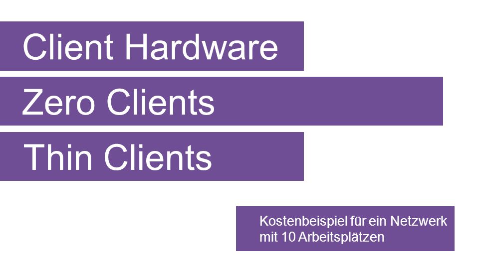 Client Hardware Zero Clients Thin Clients
