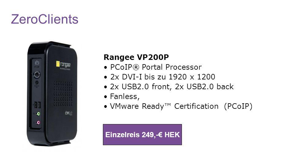 ZeroClients Rangee VP200P • PCoIP® Portal Processor