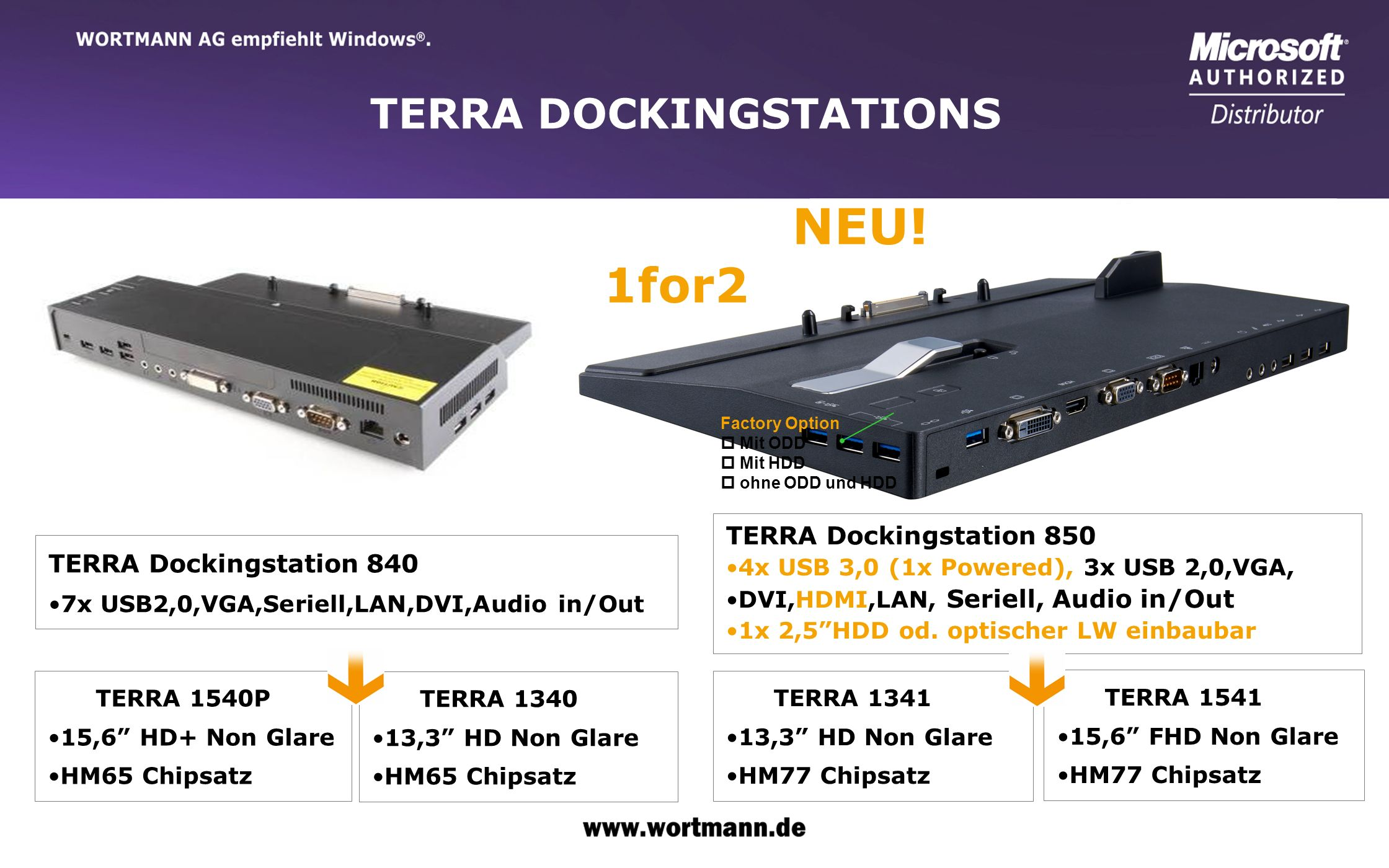 NEU! 1for2 TERRA DOCKINGSTATIONS TERRA Dockingstation 850