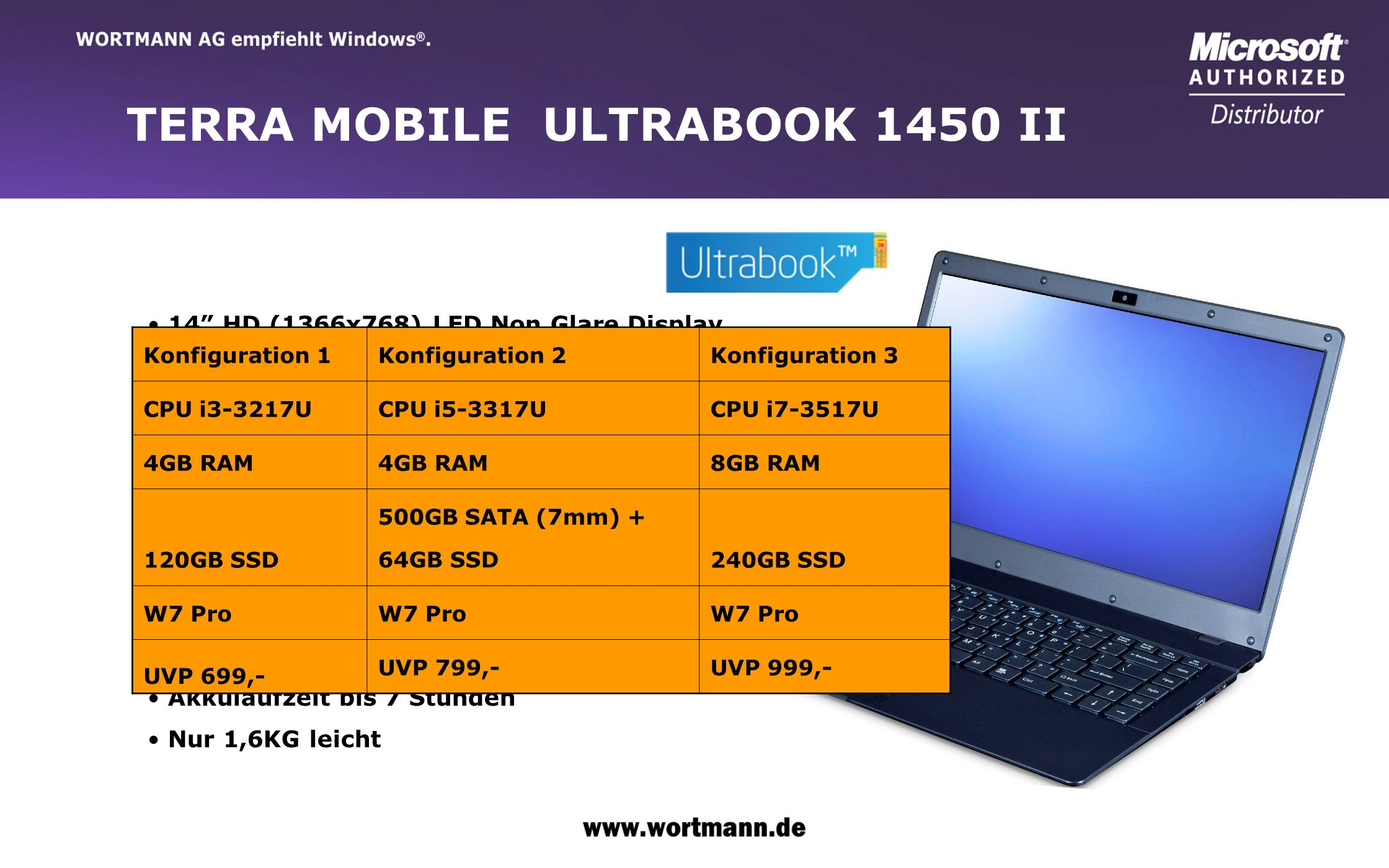 TERRA MOBILE ULTRABOOK 1450 II