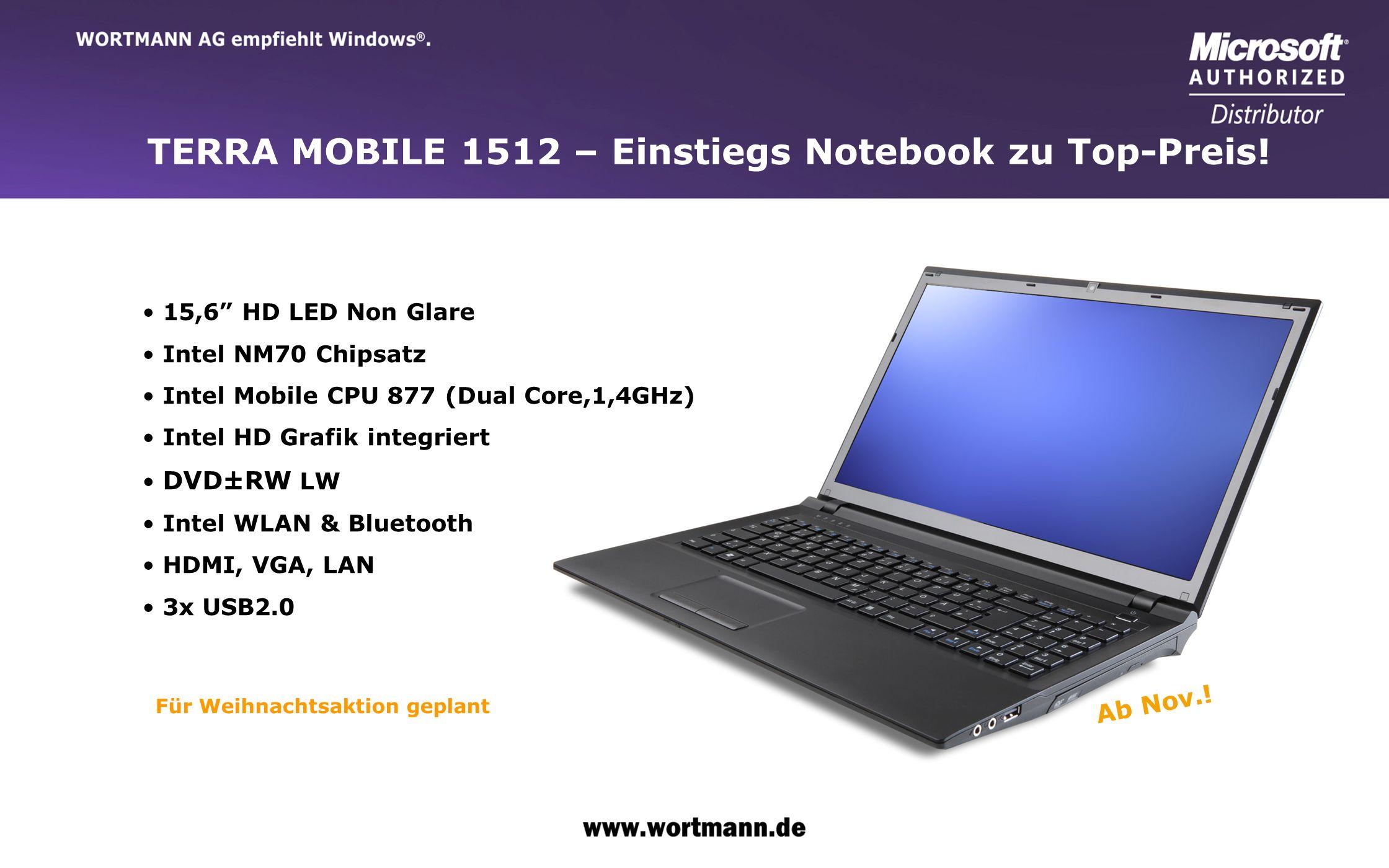 TERRA MOBILE 1512 – Einstiegs Notebook zu Top-Preis!