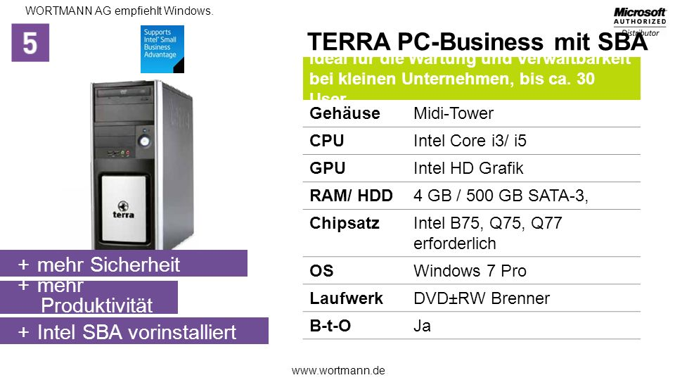 TERRA PC-Business mit SBA