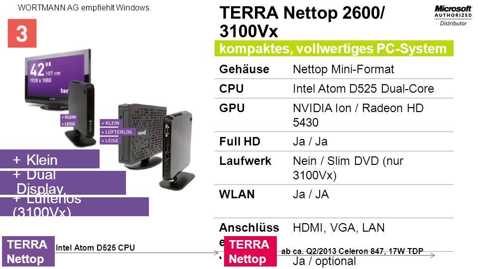 TERRA Nettop 2600/ 3100Vx Klein Dual Display Lüfterlos (3100Vx)