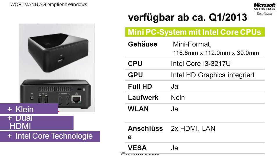 verfügbar ab ca. Q1/2013 Klein Dual HDMI
