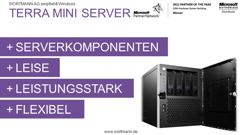 TERRA MINI SERVER SERVERKOMPONENTEN LEISE LEISTUNGSSTARK FLEXIBEL