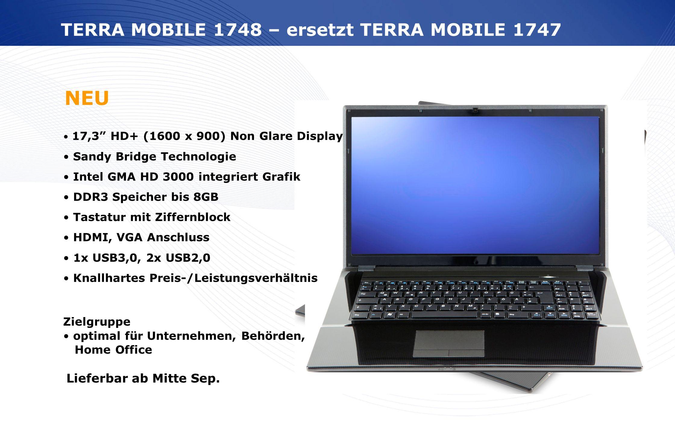 NEU TERRA MOBILE 1748 – ersetzt TERRA MOBILE 1747