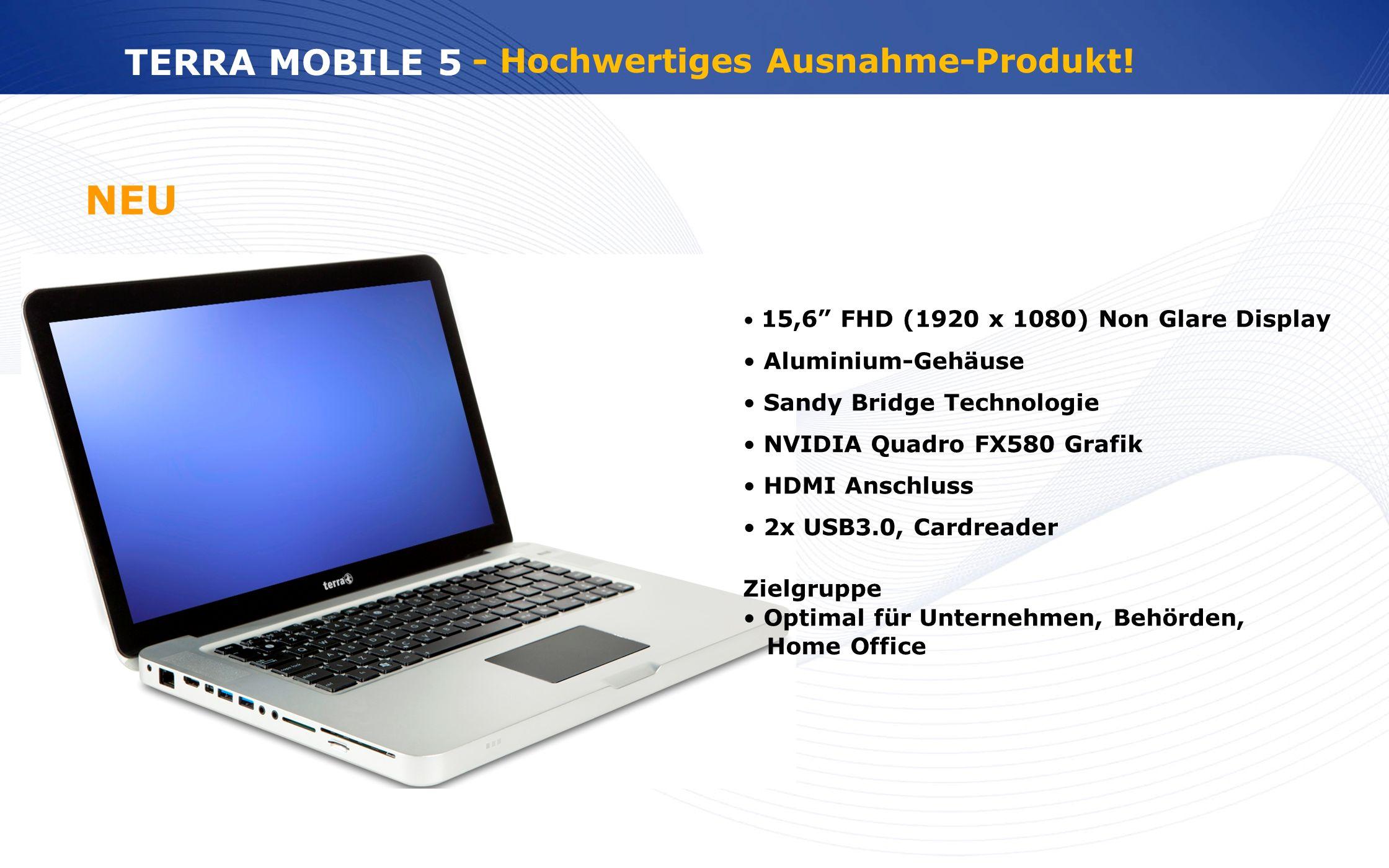 NEU TERRA MOBILE 5 - Hochwertiges Ausnahme-Produkt! Aluminium-Gehäuse