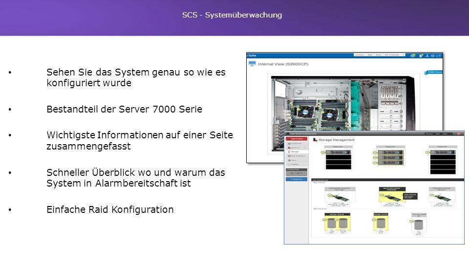 SCS - Systemüberwachung
