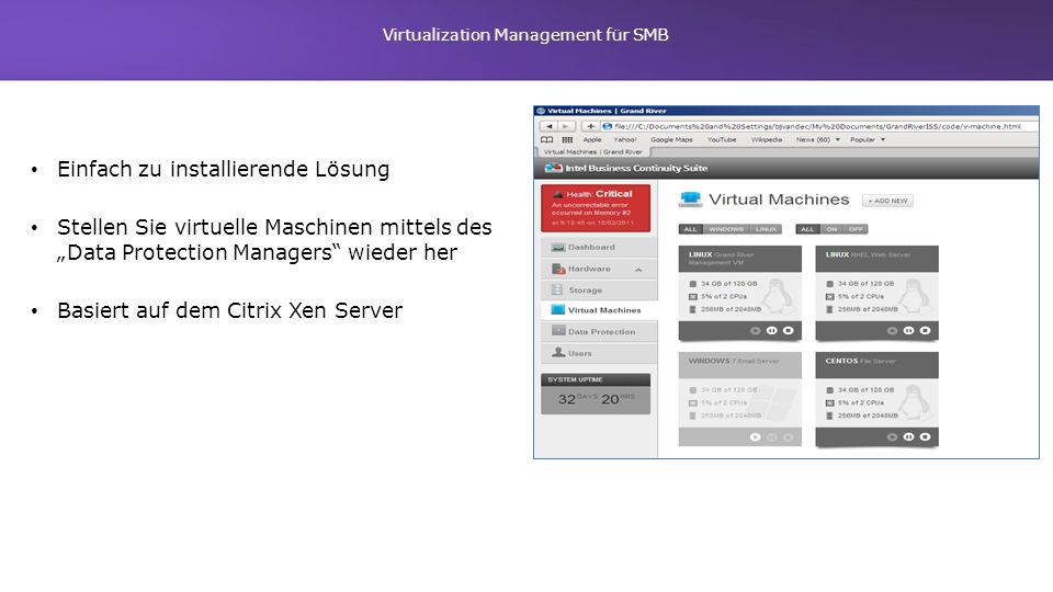 Virtualization Management für SMB