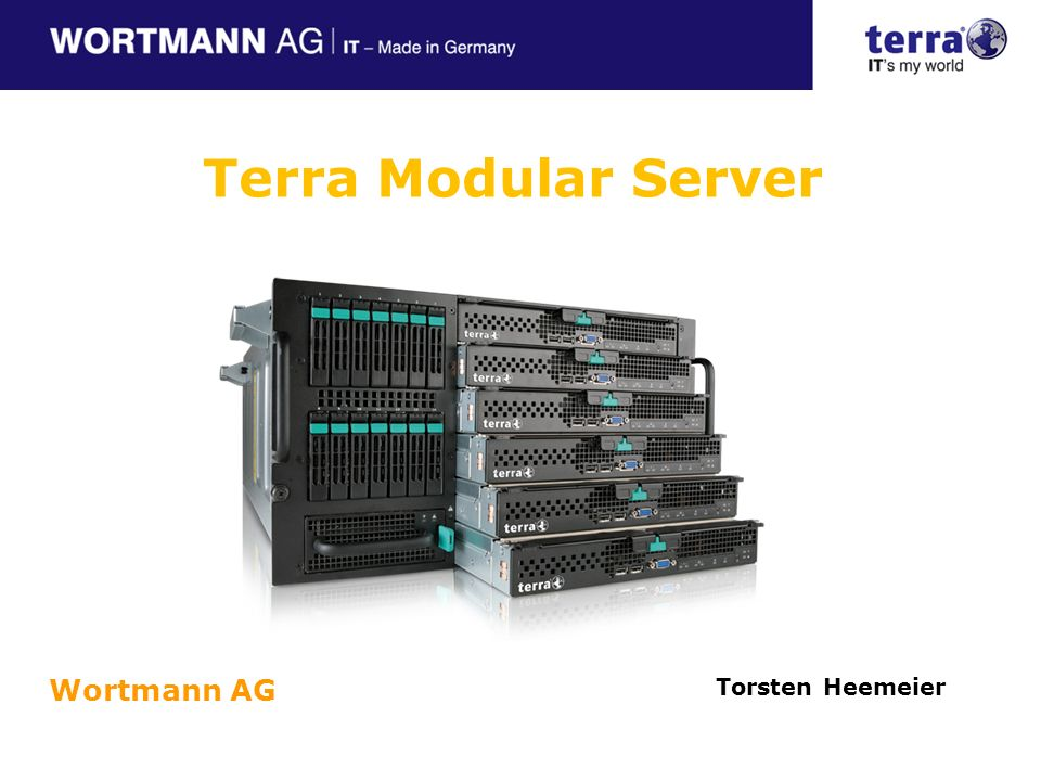 Terra Modular Server Wortmann AG Torsten Heemeier Referent