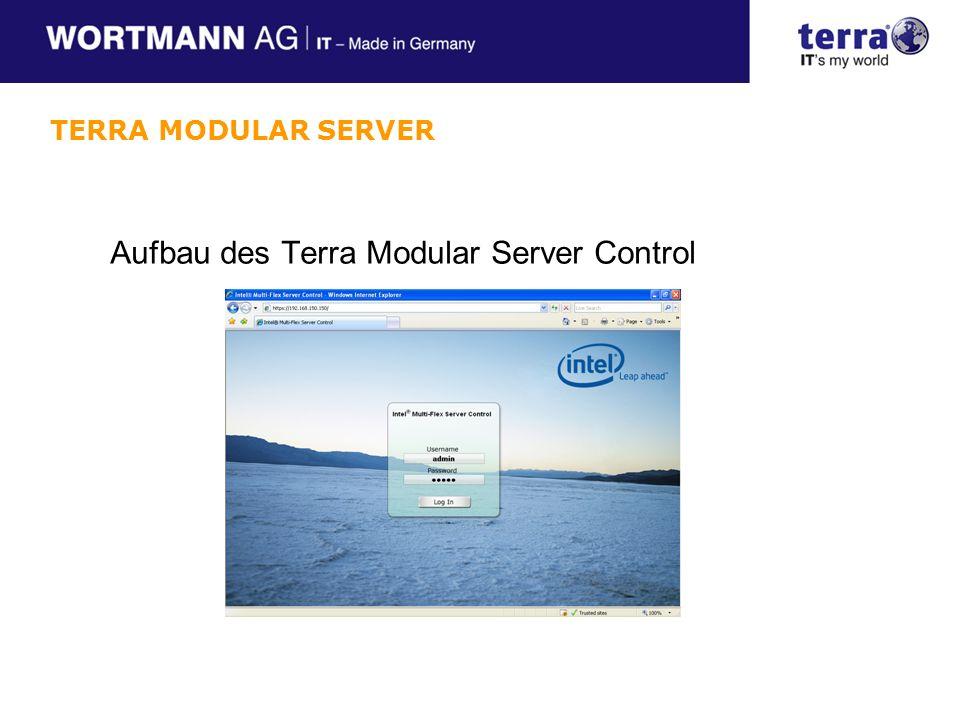 Aufbau des Terra Modular Server Control