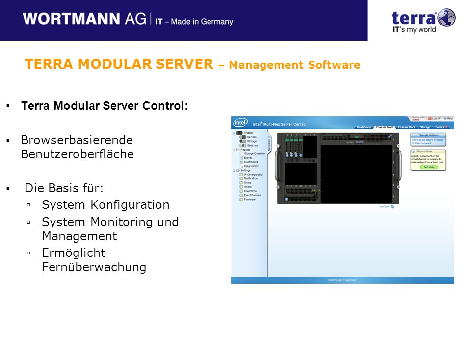 TERRA MODULAR SERVER – Management Software