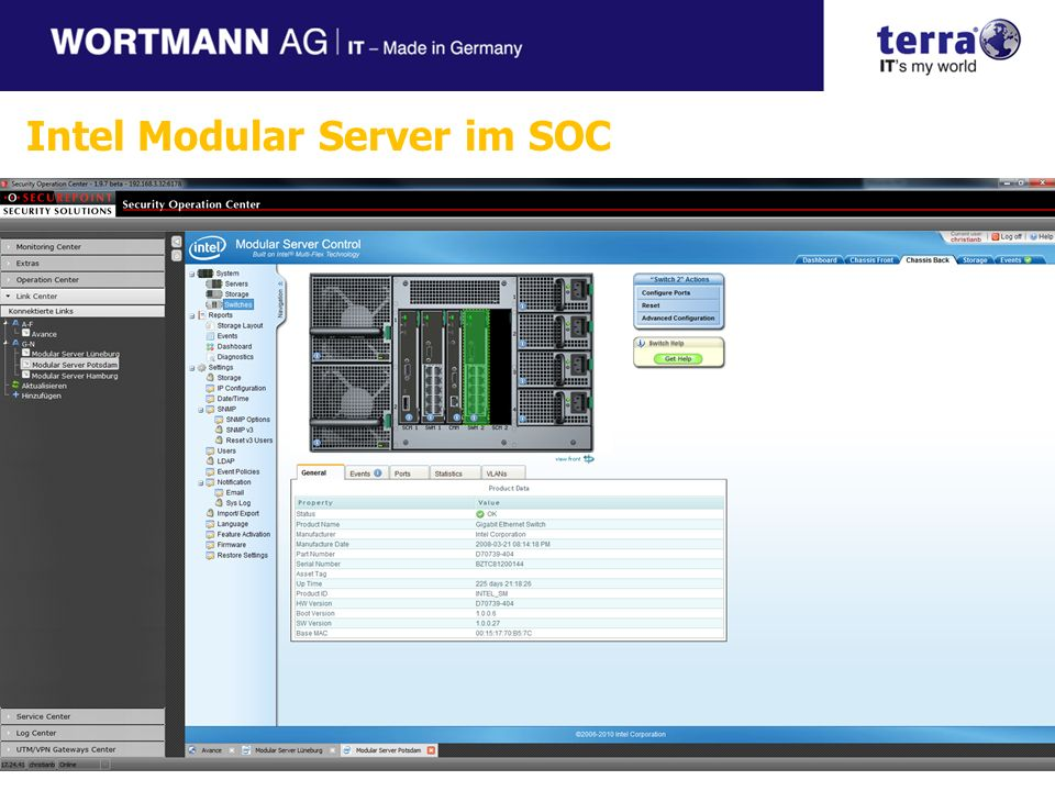 Intel Modular Server im SOC