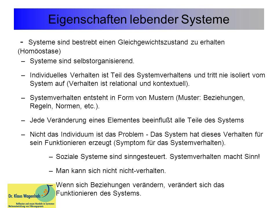 Eigenschaften lebender Systeme
